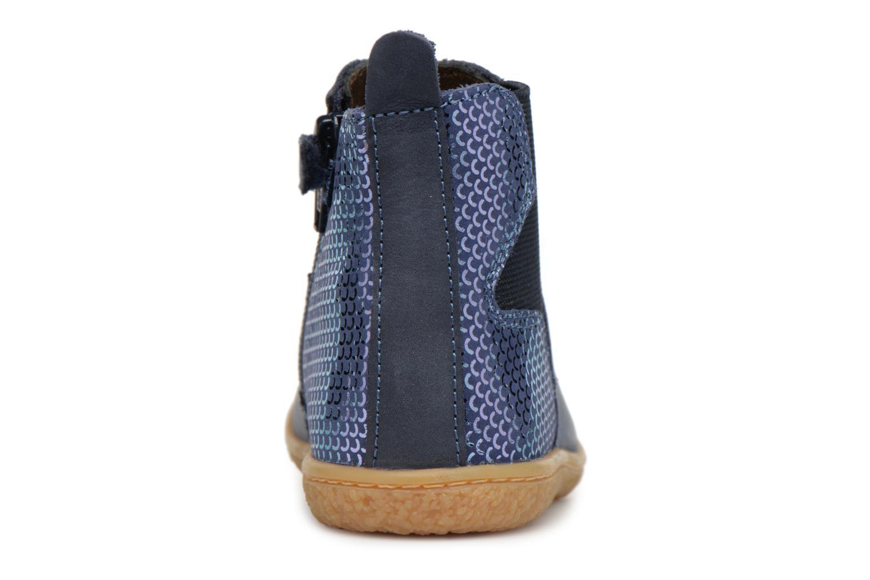 Bottines et boots Kickers Vermillon Bleu vue droite