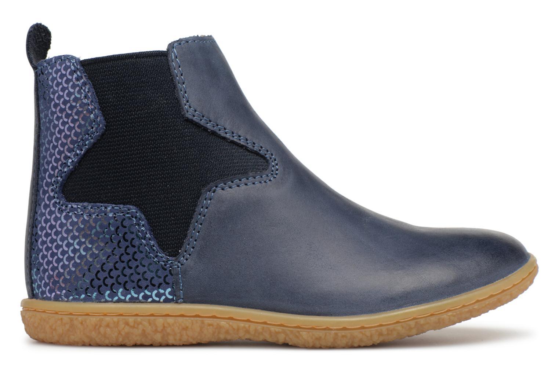 Bottines et boots Kickers Vermillon Bleu vue derrière