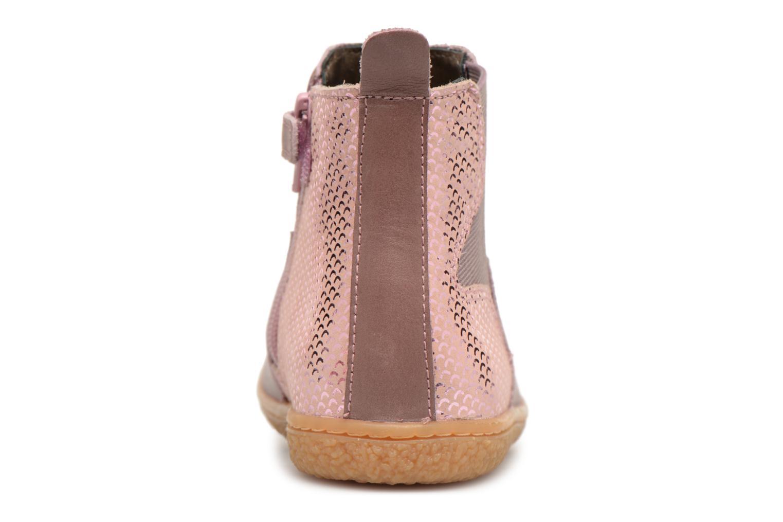 Bottines et boots Kickers Vermillon Rose vue droite