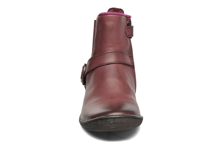 Bottines et boots Kickers Cadmium Bordeaux vue portées chaussures