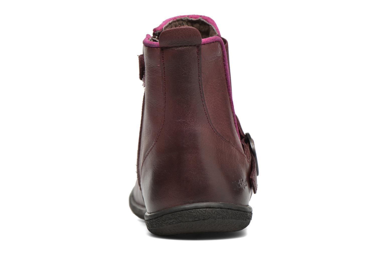 Bottines et boots Kickers Cadmium Bordeaux vue droite