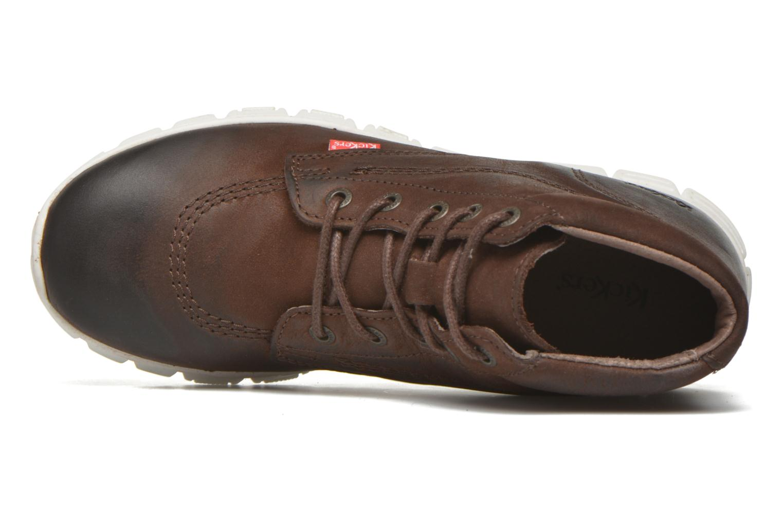 Chaussures à lacets Kickers Marallye Marron vue gauche