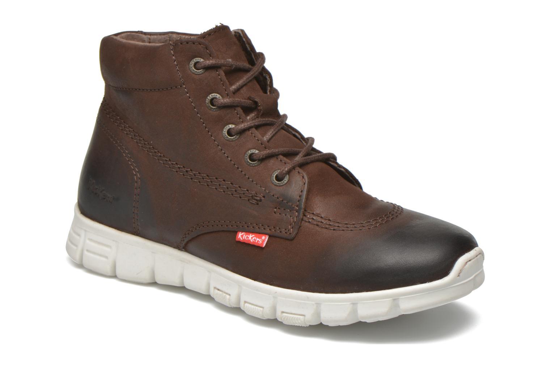 Chaussures à lacets Kickers Marallye Marron vue détail/paire