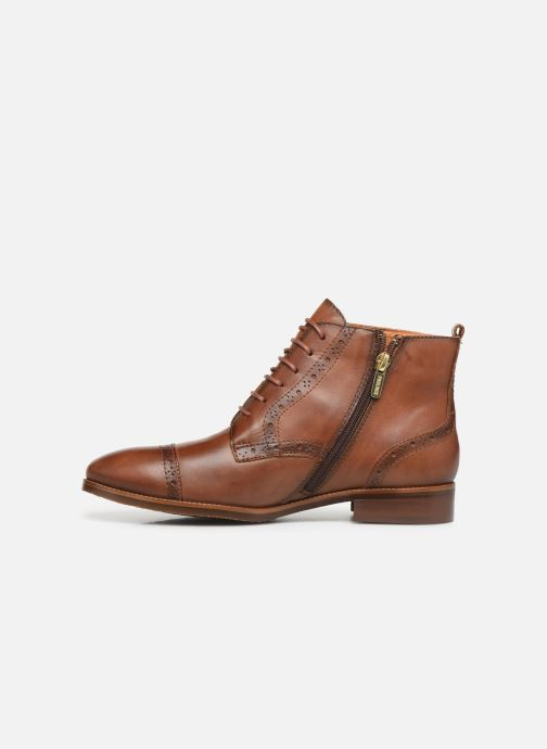 Ankle boots Pikolinos Royal W4D-8717 Brown front view