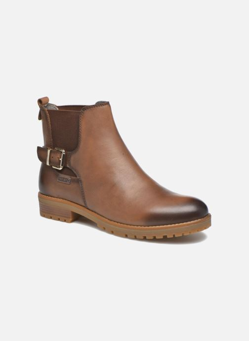 Ankle boots Pikolinos SANTANDER W4J-8781 Brown detailed view/ Pair view