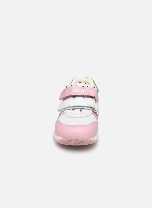 Chaussures à scratch Geox B Rishon G. B B640LB Rose vue portées chaussures