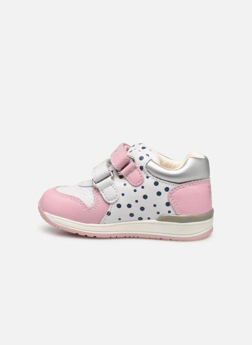 Chaussures à scratch Geox B Rishon G. B B640LB Rose vue face