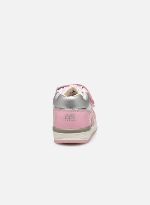 Chaussures à scratch Geox B Rishon G. B B640LB Rose vue droite