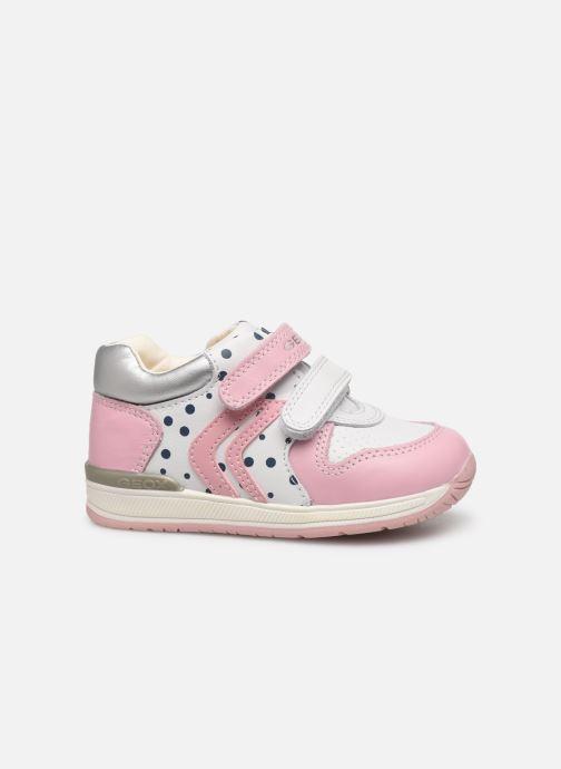 Chaussures à scratch Geox B Rishon G. B B640LB Rose vue derrière