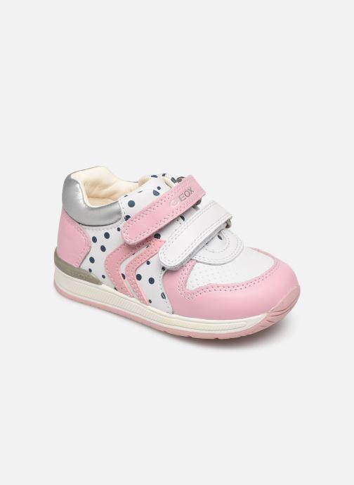 Chaussures à scratch Geox B Rishon G. B B640LB Rose vue détail/paire