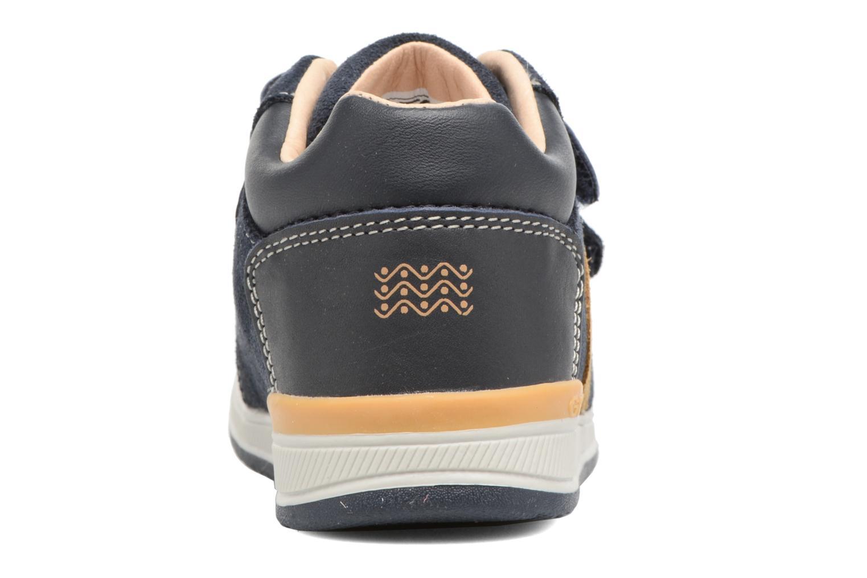 Sneakers Geox B Rishon B. A B640RA Marrone immagine destra