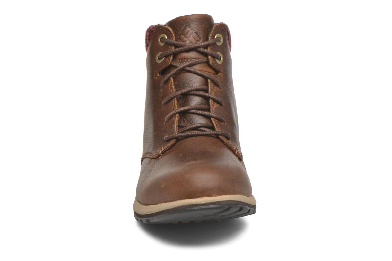 Chaussures à lacets Columbia Davenport Xtm Waterproof Omni-Heat Marron vue portées chaussures