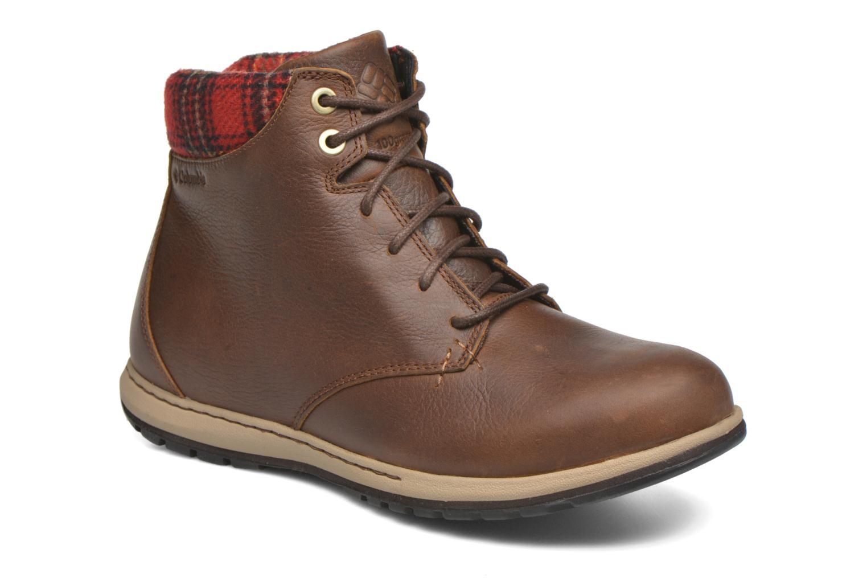 Chaussures à lacets Columbia Davenport Xtm Waterproof Omni-Heat Marron vue détail/paire