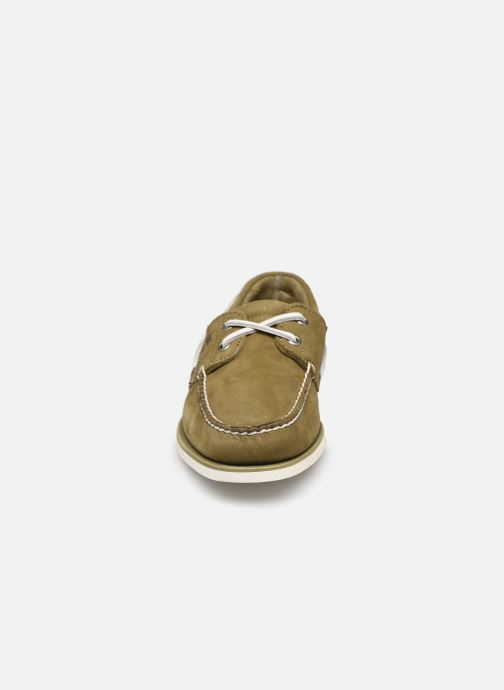 Lace-up shoes Timberland Classic Boat 2 Eye Green model view