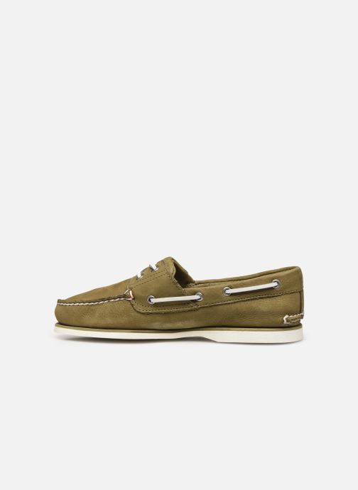 Lace-up shoes Timberland Classic Boat 2 Eye Green front view
