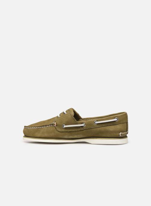 Zapatos con cordones Timberland Classic Boat 2 Eye Verde vista de frente