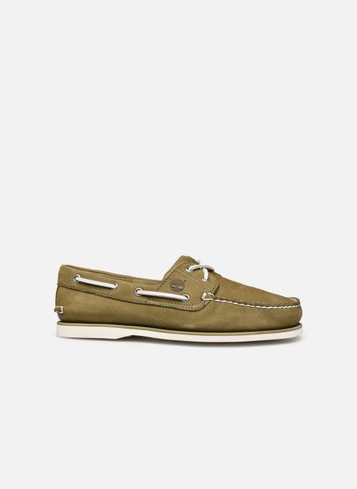 Zapatos con cordones Timberland Classic Boat 2 Eye Verde vistra trasera