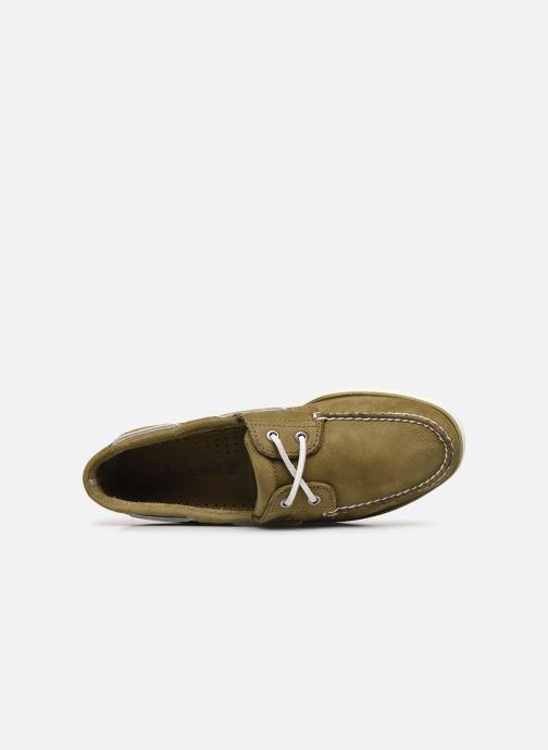 Zapatos con cordones Timberland Classic Boat 2 Eye Verde vista lateral izquierda