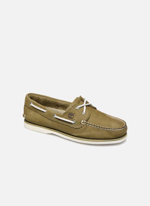 Zapatos con cordones Timberland Classic Boat 2 Eye Verde vista de detalle / par