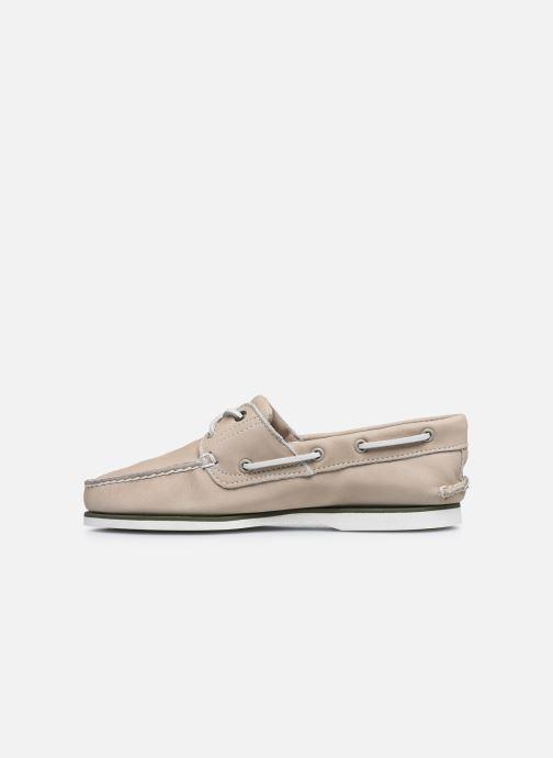Zapatos con cordones Timberland Classic Boat 2 Eye Beige vista de frente