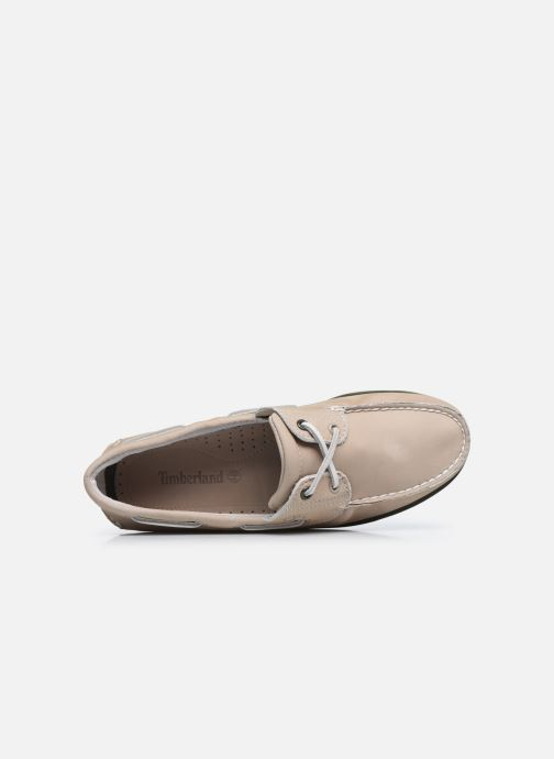 Zapatos con cordones Timberland Classic Boat 2 Eye Beige vista lateral izquierda