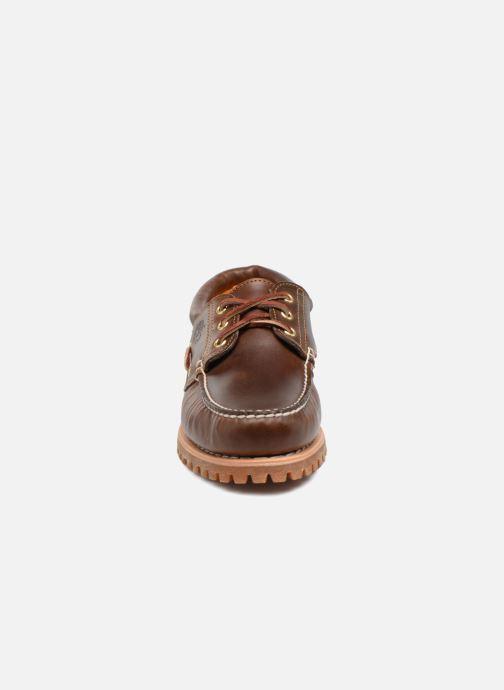 Chaussures à lacets Timberland Authentics 3 Eye Classic Marron vue portées chaussures