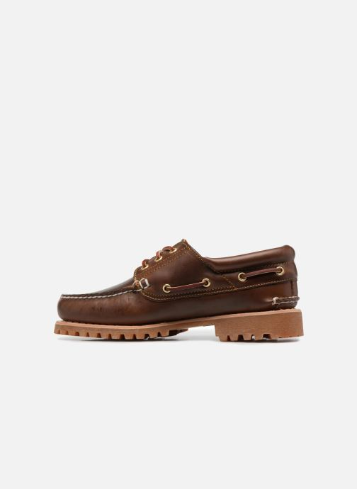 Chaussures à lacets Timberland Authentics 3 Eye Classic Marron vue face