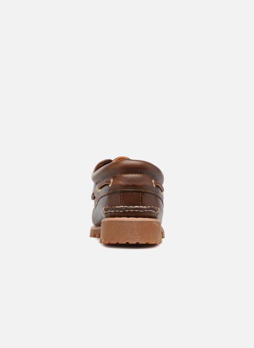 Chaussures à lacets Timberland Authentics 3 Eye Classic Marron vue droite