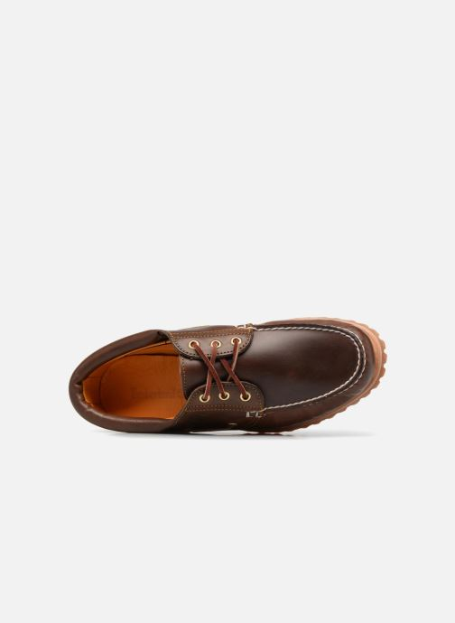Lace-up shoes Timberland Authentics 3 Eye Classic Brown view from the left