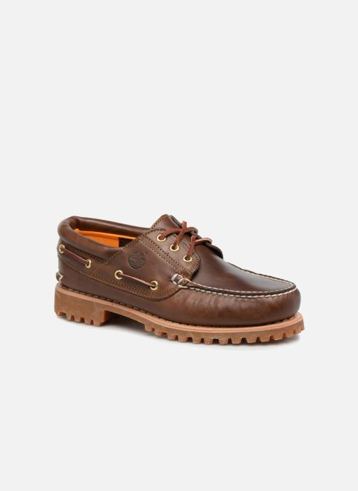 Veterschoenen Timberland Authentics 3 Eye Classic Bruin detail