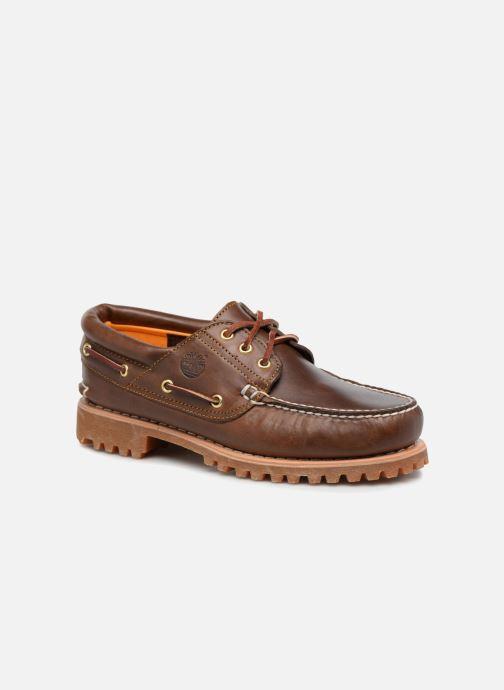 Chaussures à lacets Timberland Authentics 3 Eye Classic Marron vue détail/paire