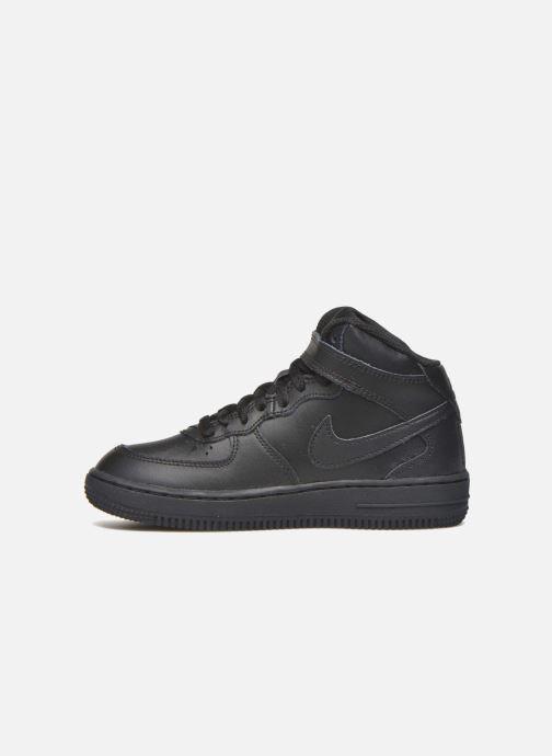 Sneakers Nike Nike Force 1 Mid (Ps) Zwart voorkant