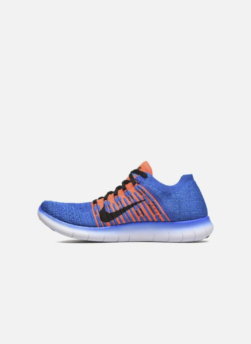huge selection of 3ffaf ccbd7 Trainers Nike Nike Free Rn Flyknit (Gs) Blue front view