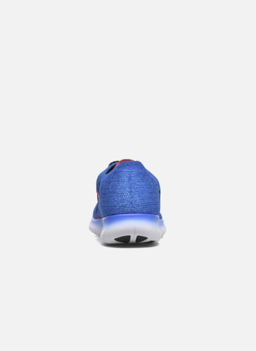 best cheap 816ae 17873 Trainers Nike Nike Free Rn Flyknit (Gs) Blue view from the right