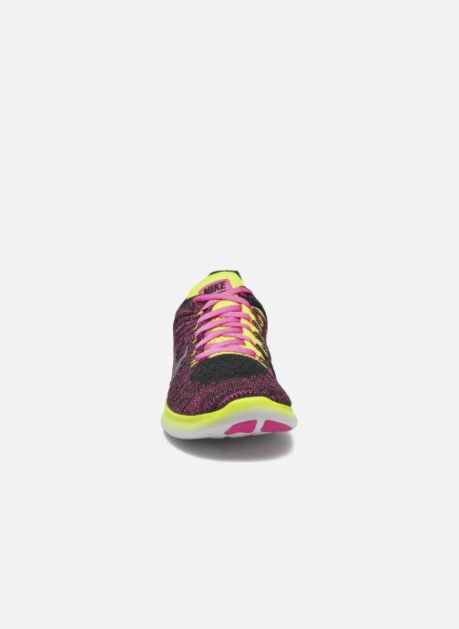 Sneakers Nike Nike Free Rn Flyknit (Gs) Rosa modello indossato