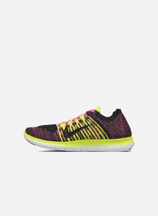 Deportivas Nike Nike Free Rn Flyknit (Gs) Rosa vista de frente