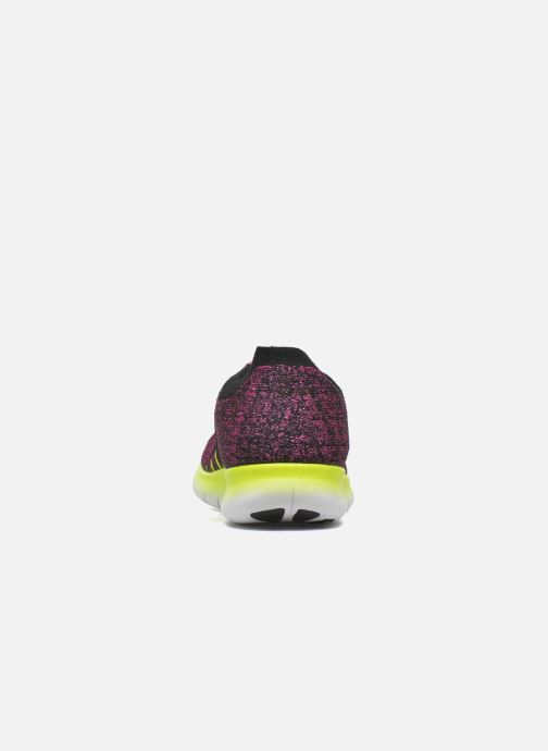 Trainers Nike Nike Free Rn Flyknit (Gs) Pink view from the right