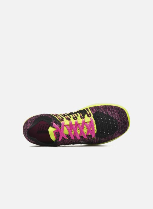 Trainers Nike Nike Free Rn Flyknit (Gs) Pink view from the left