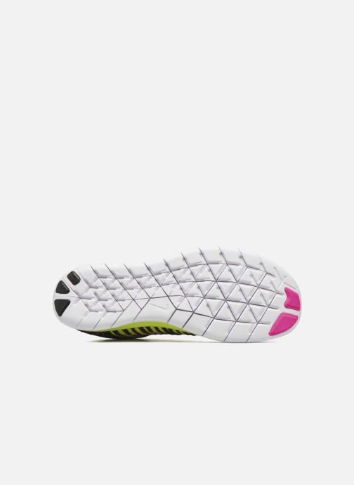 Trainers Nike Nike Free Rn Flyknit (Gs) Pink view from above