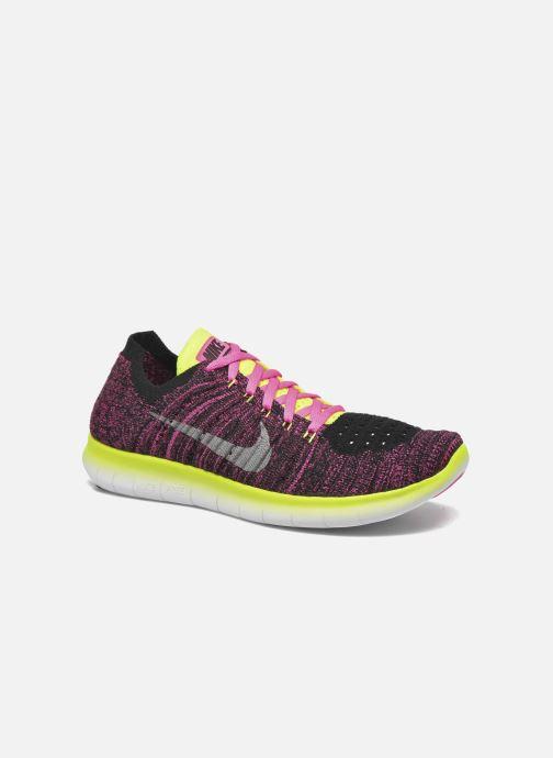 Deportivas Nike Nike Free Rn Flyknit (Gs) Rosa vista de detalle / par