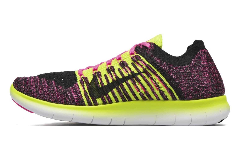 Sneakers Nike Nike Free Rn Flyknit (Gs) Roze voorkant
