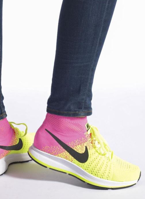 Trainers Nike Zm Peg All Out Flyknit Oc Gs Black view from underneath / model view