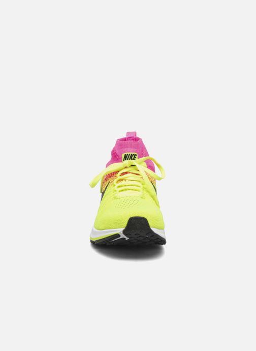 Sneaker Nike Zm Peg All Out Flyknit Oc Gs schwarz schuhe getragen