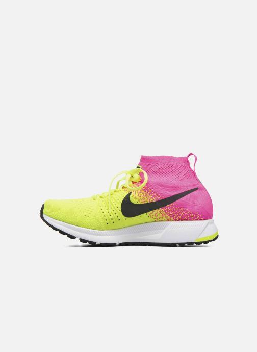 Sneaker Nike Zm Peg All Out Flyknit Oc Gs schwarz ansicht von vorne