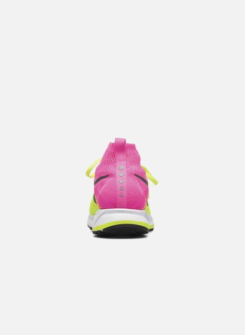 Deportivas Nike Zm Peg All Out Flyknit Oc Gs Negro vista lateral derecha