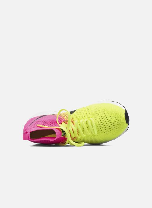 Sneaker Nike Zm Peg All Out Flyknit Oc Gs schwarz ansicht von links