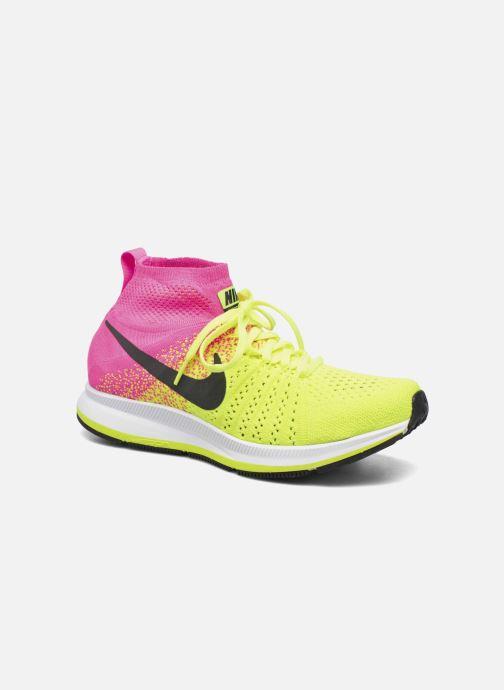 Deportivas Nike Zm Peg All Out Flyknit Oc Gs Negro vista de detalle / par
