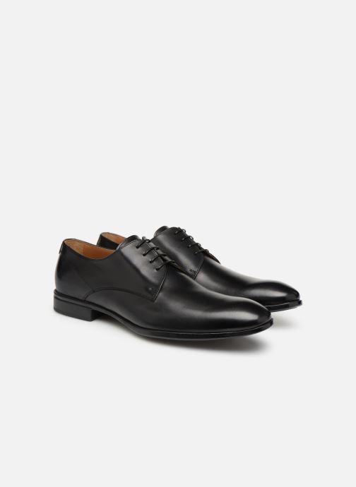 Chaussures à lacets Doucal's Omar Vichy Noir vue 3/4