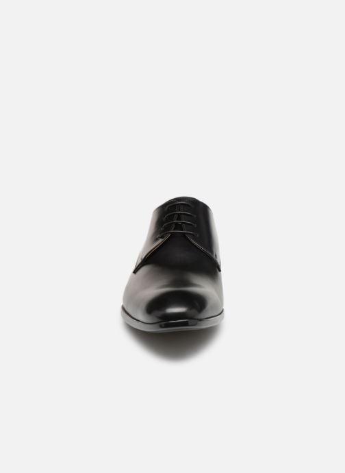 Chaussures à lacets Doucal's Omar Vichy Noir vue portées chaussures