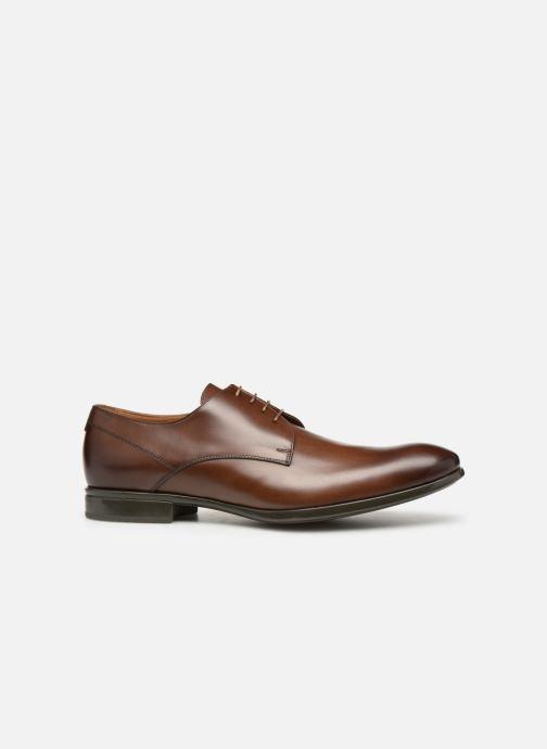 Chaussures à lacets Doucal's Omar Vichy Marron vue derrière